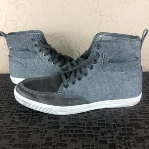 True religion gray high tops sneakers 8.5